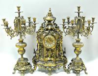 часы каминные с парными канделябрами