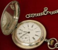 часы карманные Perret & Fils Brenets с цепочкой