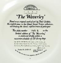Davenport Паравозы - Поезда тарелка настенная Англия 1988 год.