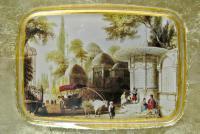 Декоративная коллекционная тарелка, художественное стекло Турция 2000 гг.