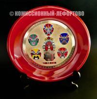 декоративная тарелка маски пекинской оперы