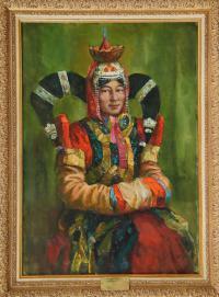 картина «Дочь Монголии» Саранцэцэг - собственность частной коллекции
