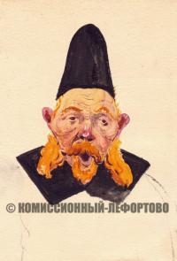 дьяк, художник реставратор Леонид Любимов 1950-1960 гг.