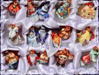 Ёлочные игрушки набор 16 штук, совреманная Россия.