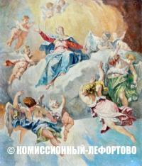 эскиз к эталону росписи плафона работы художника П. Балларини в Аудиенц-зале Большого Петергофского дворца.