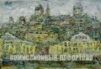 этюд «г. Торжок» художник Крымский А.Я. период ссср 1986 год.