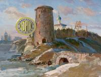 этюд «Гремячая башня» Псков, период ссср 1961 год.