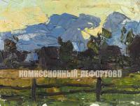 этюд «Вечер, Головино», художник Евгений Иванович Третьяков 1968 год.