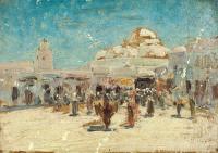 этюд Вид Самарканда, 19 век 1880 - 1890 гг.