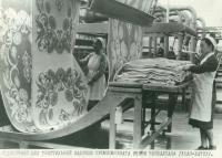 фотография, отделочный цех текстильной фабрики промкомбината им. Чойбалсана г. Улан-Батор