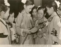 фотография, воспитанники Улан-Баторской музыкально-балетной школы, Монголия 1970 гг.
