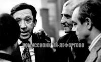 фотография Юрий Никулин, Константин Симонов, Кирилл Лавров 1978 год.