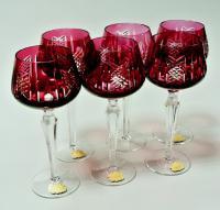 фужеры 6 штук для вина, шампанского, гдр 1970 гг.