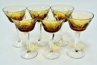 фужеры набор 6 штук для вина, шампанского, гдр 1970 гг.