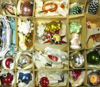 Набор елочных игрушек 45 штук пр - во ГДР 1960 год.