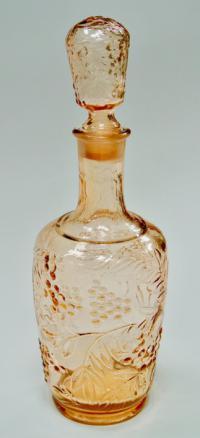 графин, цветное стекло медовый тон, период ссср 1950-60 гг.