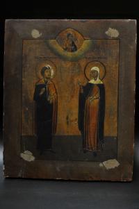 икона св. м. Евлампий, св. м. Агрипина начало XX века