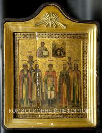 икона «Избранные святые» до 1917 года.