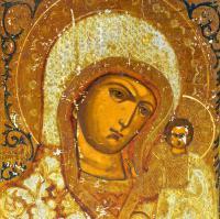 икона Казанской БМ, Холуй начало XX века