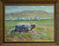 картина «каменная черепаха Монголия Харахарин» - собственность частной коллекции.