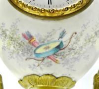 каминные часы бронза, фарфор Франция 1850-1890 гг.