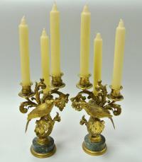 Канделябры, пара на три свечи