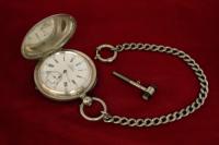 карманные серебреные часы Borel Neuchatel, Швейцария