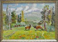 картина «На альпийских лугах Алтая» 2008 год.