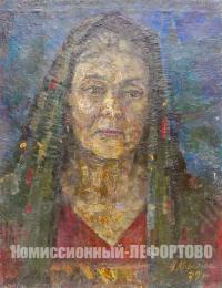 картина «Одинокая женщина» художник Крымский А.Я. период ссср 1979 год.