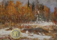картина «Ранний снег», 2001 год.