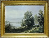 картина «Серый день» 1999 год, художник Лобачёв А. Б.