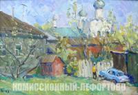 картина «Солнечный день в Ростове», художник Евгений Иванович Третьяков 2008 год.