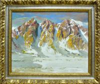 картина «Вечер в горах», 2008 год Х/М 40 Х 50 см.