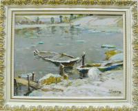 картина «Весна на реке Мсте» 2007 год.
