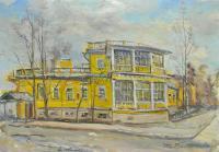картина Дом Китаевых 1975 год, художник Радимова Татьяна Павловна