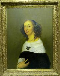картина копия «Женский портрет», 1993 год Х/М 60 Х 80 см.