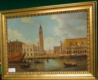 картина площадь сан - марко венеция ст.бруцци 1980 год Х / М 121 Х 90 см.