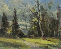 картина русский пейзаж 1964 год, художник Радимова Татьяна Павловна