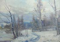 картина русский пейзаж 1965 год, художник Радимова Татьяна Павловна