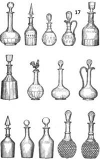 изделия из хрусталя, стекла, стили, фасоны, клейма