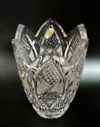 Хрустальная ваза Тюльпан, ДХЗ период СССР 1960-1970 гг.