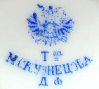 сливочник, фабрика М. С. Кузнецова Московской губернии, период до 1889 года.