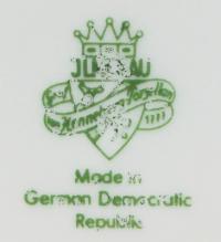 клеймо фарфоровая мануфактура «Jlmenau» Graf von Henneberg Тюрингия Германия, 20 век.