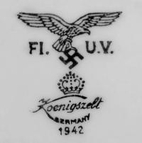 клеймо фарфоровая мануфактура «Koenigszelt» Бавария, Германия 20 век.