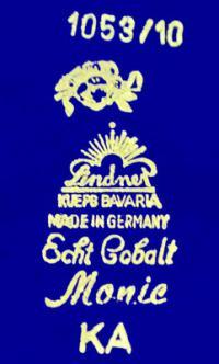 клеймо фарфоровая мануфактура «Kueps Lindnet» Бавария, Германия 20 век.