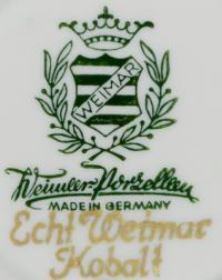 клеймо фарфоровая мануфактура «Weimar» Тюрингия, Германия 20 век.