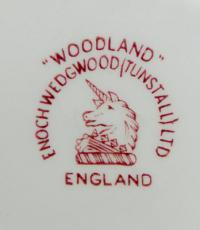 клеймо фарфоровая мануфактура «Woodland» Англия, 20 век.