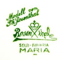 клеймо фарфорового завода розенталь (rosenthal, monbijou) конец 19, начало 20 века.