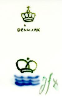 клеймо фарфоровой фабрики Даль-Йенсена «Dahl Jensen» Копенгаген, Дания 20 век.