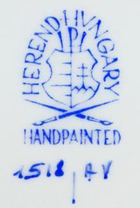 клеймо фарфоровой мануфактуры «Херенд», Венгрия 20 век.